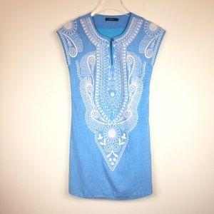 Theme | Embroidered Shift Dress | Sz S